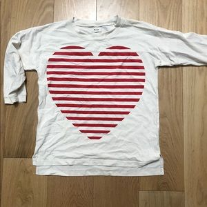 Madewell striped heart cotton tee